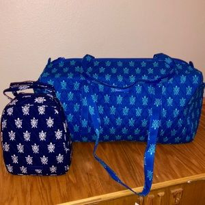 Vera Bradley sea Turtles Duffle Bag Bundle NWTS ✨